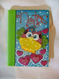 Resultado de imagem para libretas decoradas para niños con foamy