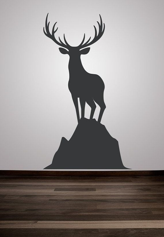 Wall Decal Animal Deer Buck Nature Wildlife Hunting Woodland Sportsman Sport. $55.00, via Etsy.