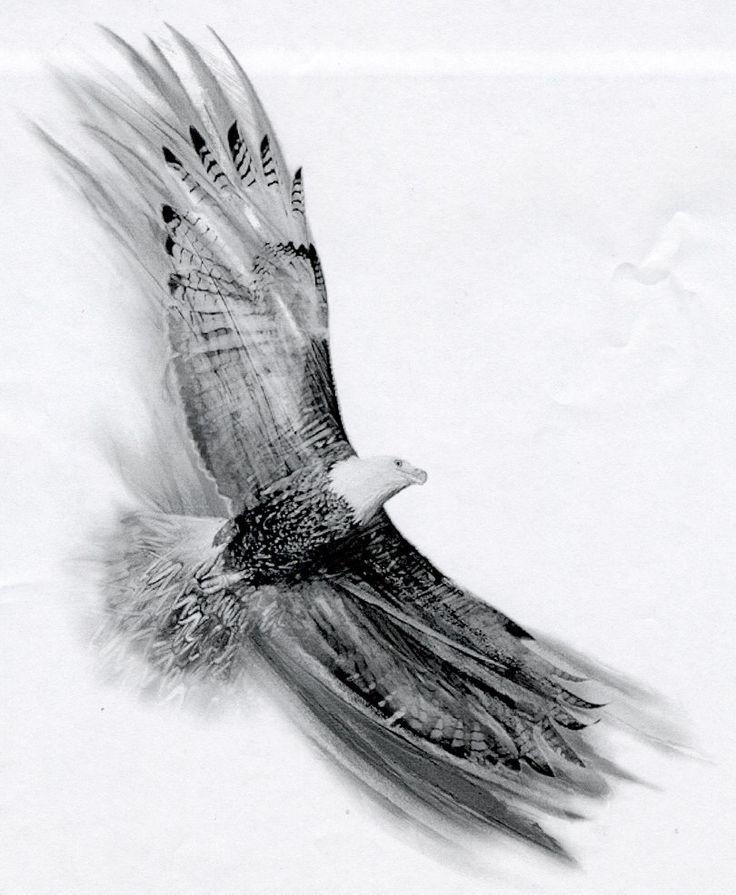 Soaring Eagle by Basixofblack on deviantART Tattoo idea...