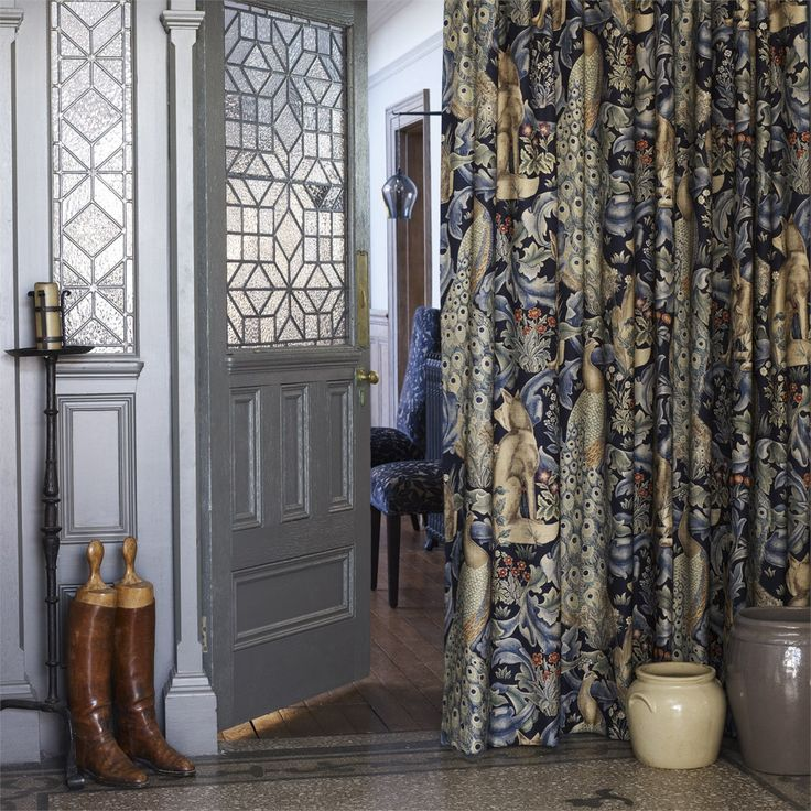 The Original Morris & Co - Arts and crafts, fabrics and wallpaper designs by William Morris & Company | Products | British/UK Fabrics and Wallpapers | Forest (Viscose/Linen) (DARP222534) | Morris Archive Prints II