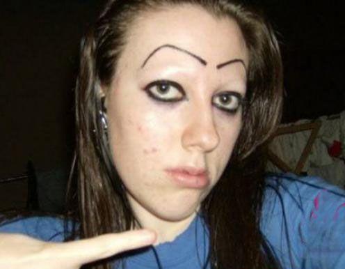 bad eyebrows, worst eyebrows, funny eyebrows, bad makeup,   ugly eyebrows, horrible, terrible, cholo, nasty, creepy, eyebrow fails, unibrows, wtf, bad family photos, awkward