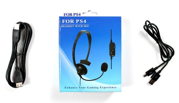 Playstation PS4 Gaming Headset + Controller-Ladekabel + Verlängerungskabel