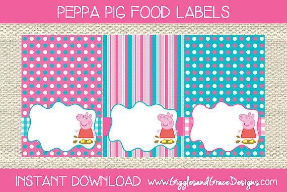 Peppa Pig Free Food Labels