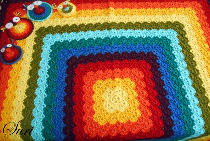 """Baby blanket with """"Shell stich"""""""