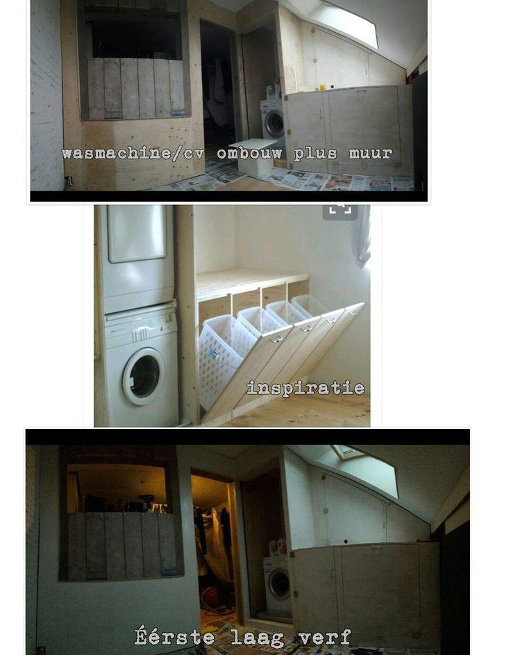 Wij zijn nu met ons project bezig op zolder. Zo goedkoop mogelijk.  Een muur en een wasmachine cv ombouw door de deurtjes kan je makkelijk nog bii de cv voor onderhoud. Wij gaan nog even verder knutselen