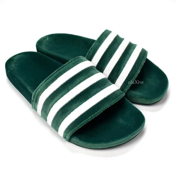 adidas slides uomo green