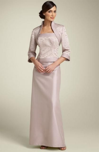 Picture of JS Collections Brocade Jacket, Top and Satin Skirt.jpg