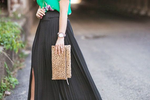 Leopard fold over clutch Leopard Clutch Leather by MimicDesign | $95