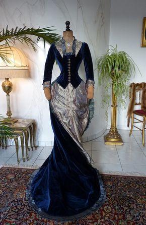 Exceptional Reception Bustle Dress, ca. 1878