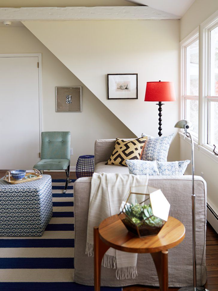 Pin for Later: Step Inside Jenna Bush Hager's Stunning Beach House Makeover  A candy-color lampshade and live greenery bring modern, youthful energy.