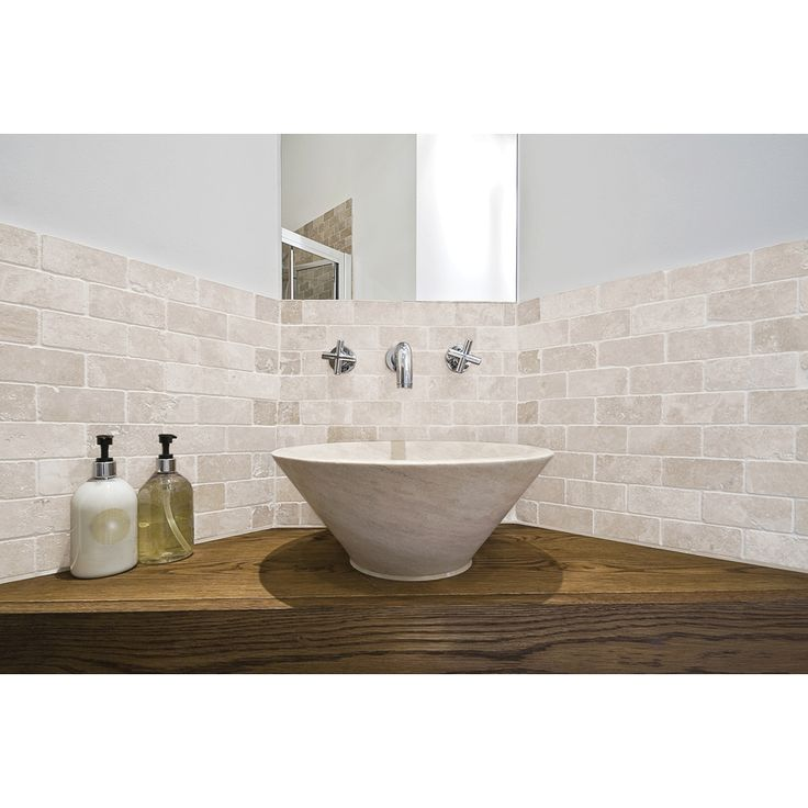 Shop Chiaro Tumbled Marble Natural Stone Mosaic Subway