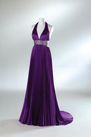 pleated purple