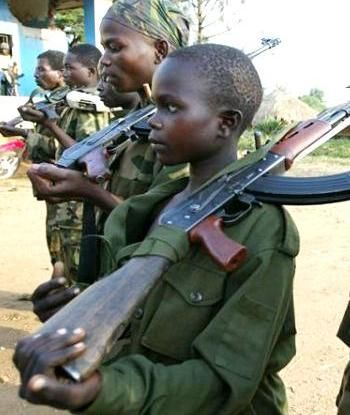 africa womans with guns | Child soldiers at an ethnic Hema militia camp near Bunia