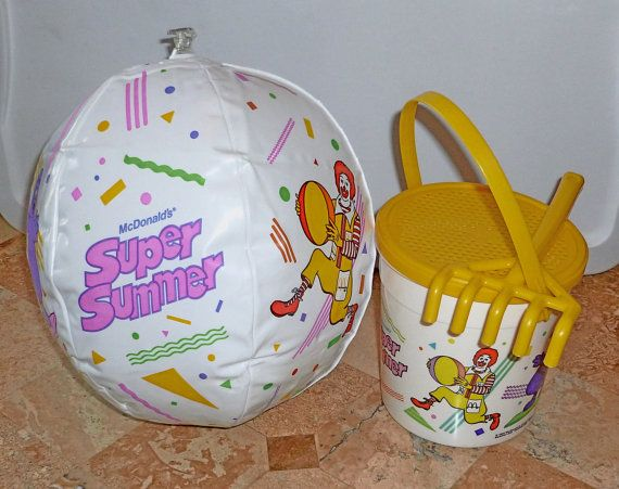 McDonalds SUPER SUMMER Happy Meal toys (1987) #80s