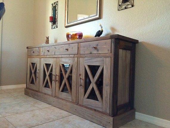 X Sideboard FREE SHIPPING INCLUDED Wood by MauriceWoodworks