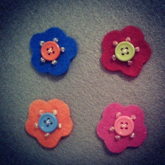 Felt Flower Snap clips