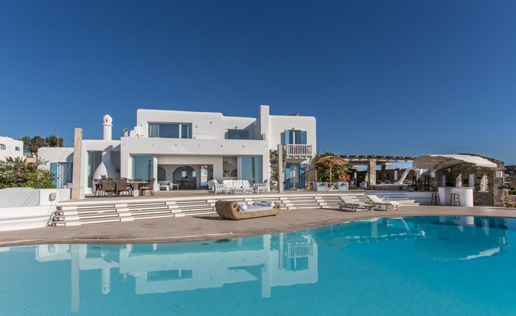 ALEGRIA villa | front view of ALEGRIA with pool | Mykonos