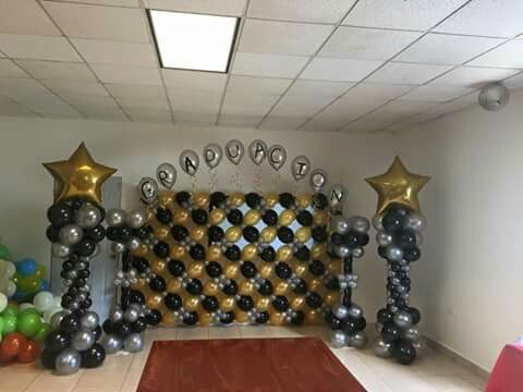 954 best images about balloon walls back drops on for Balloon decoration on wall for birthday