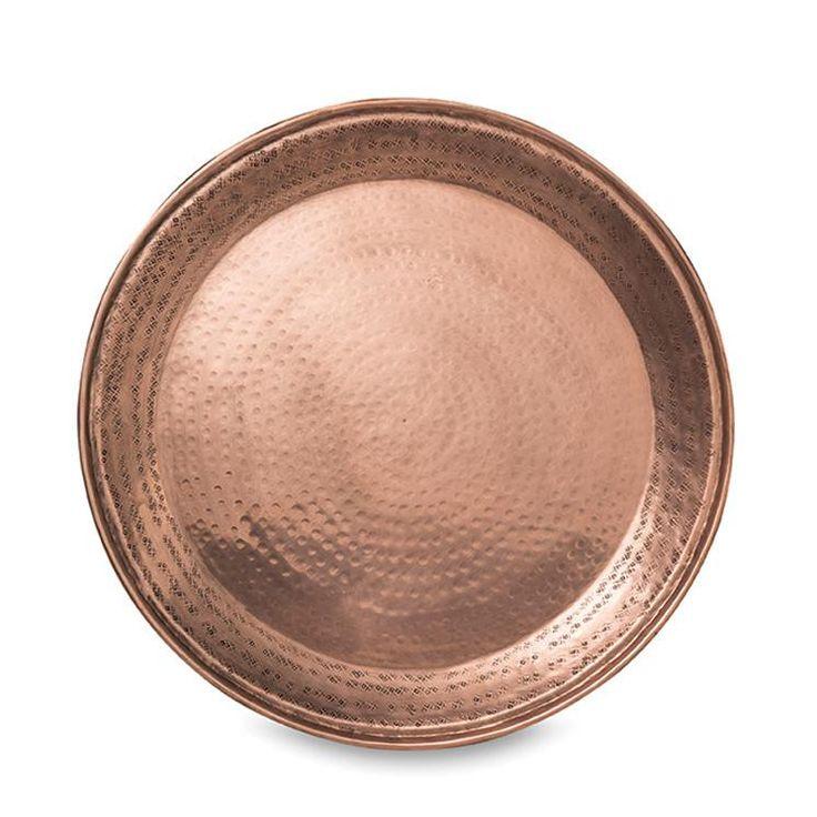 Gava Copper Plated Round Tray