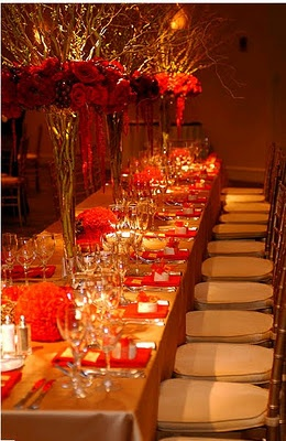 Red & gold theme - love it.: Birthday Gala, Gold Theme, 50Th Birthday, Dinners Ideas, Sets, Parties Ideas, Events Ideas, Mums 50Th, Red Gold