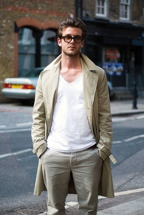 -: Cities Style, Men Clothing, Summer Style, White Shirts, Men Style, Weekend Style, Men Fashion, Street Style Fashion, Trench Coats