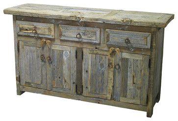 Barnwood Buffet - rustic - buffets and sideboards - Indeed Decor