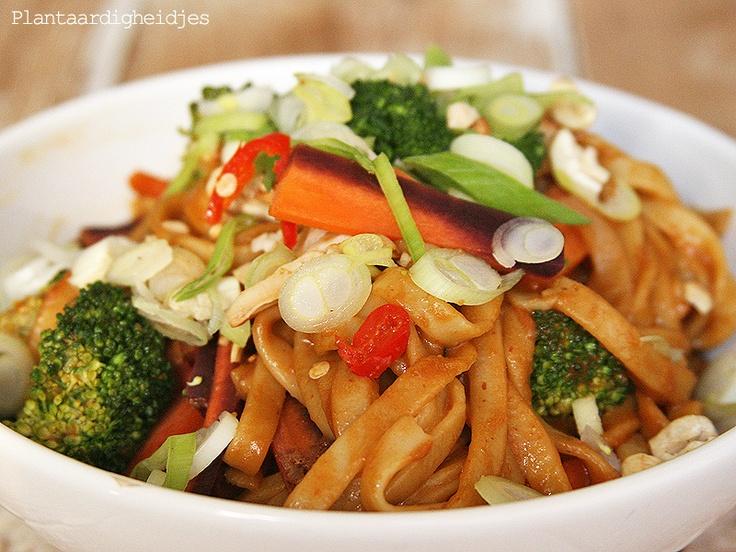 Thaise pinda noodles - Plantaardigheidjes