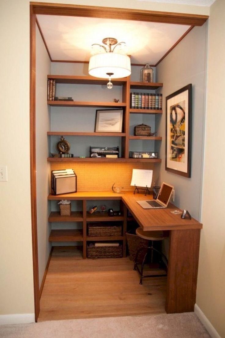 30 Functional And Creative Home Office Ideas: Oficina En Casa Pequeña, Diseño De Oficina En
