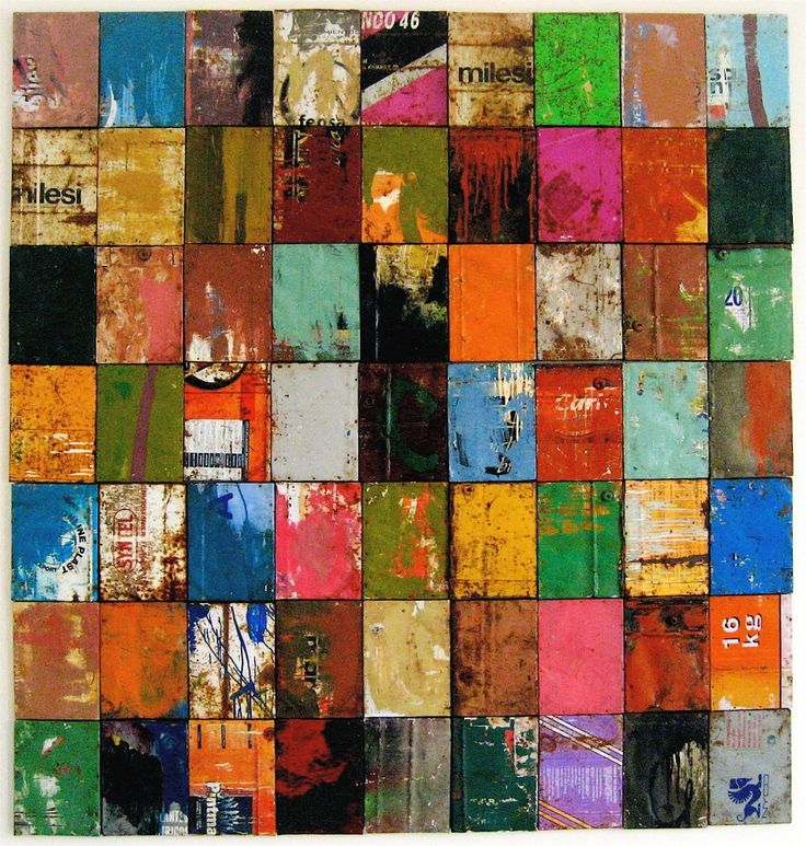 Construyendo mi silencio (Building my silence) 2005-2012 - paint on metal cans - Damian Aquiles