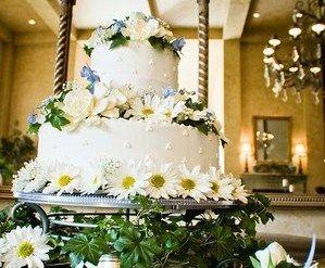 Oval Wedding Cakes, serving amounts