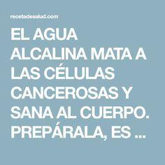 EL AGUA ALCALINA MATA A LAS CÉLULAS CANCEROSAS Y SANA AL CUERPO. PREPÁRALA, ES MUY FÁCIL!! - Receta de Salud