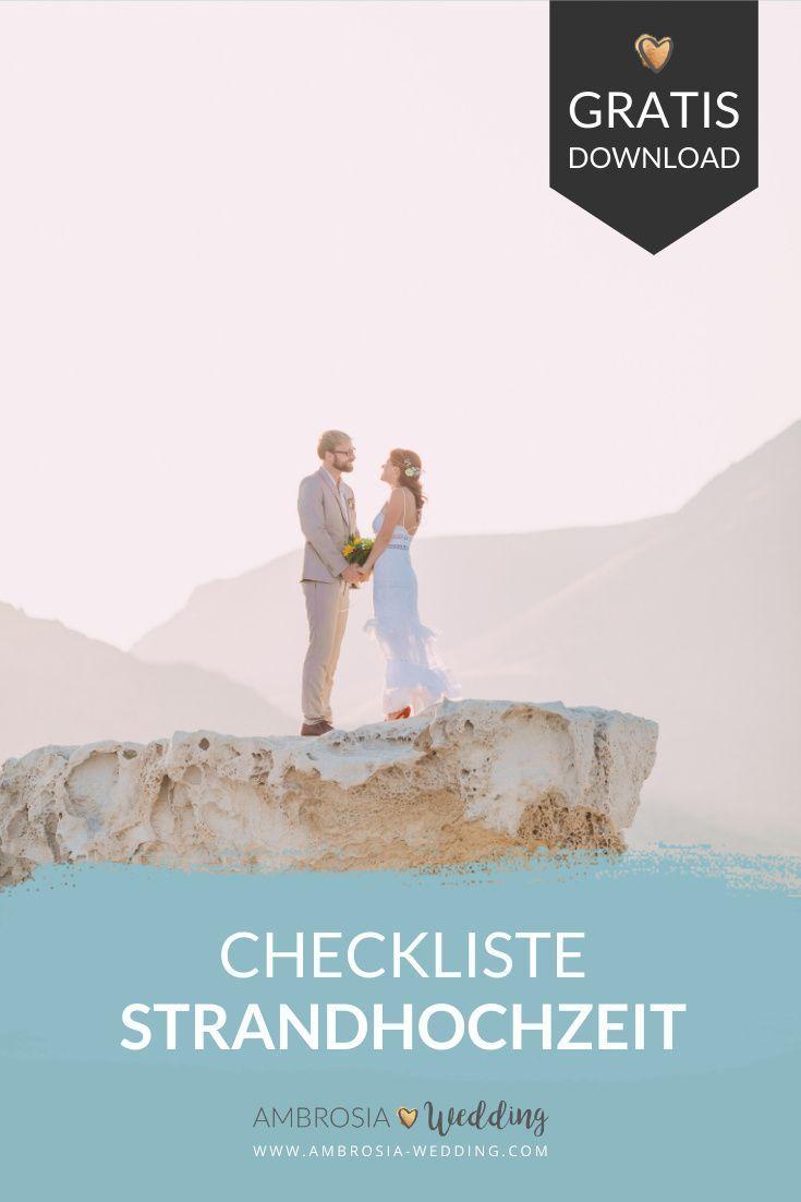 Checkliste Heiraten Am Strand Heiraten Am Strand Strandhochzeit Hochzeit Am Strand