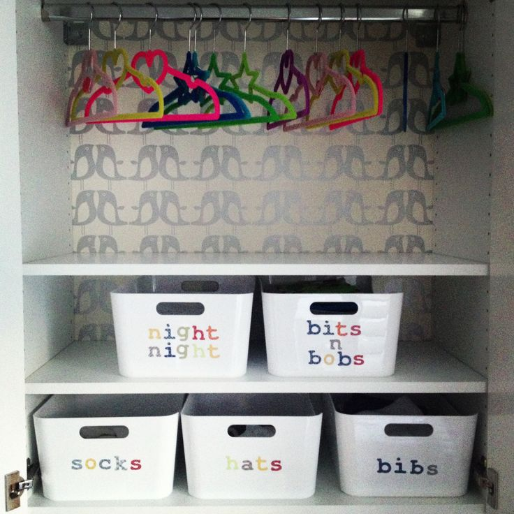 Transform An Ikea Kitchen Wall Cabinet Into Clothes Storage For New Baby!  Tubs Also From