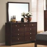 $610.00  Coaster Furniture - Serenity 9 Drawer Dresser and Rectangular Mirror Combination - 201973-4