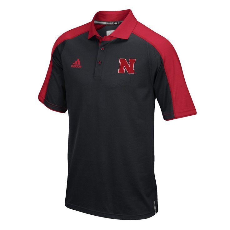 2016 Nebraska Football Coaches Polo by Adidas - SS - Black Size M $65