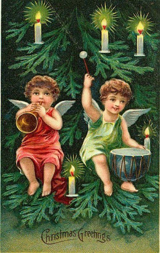 Новый год ангелы открытки, добрым пожеланием красивые