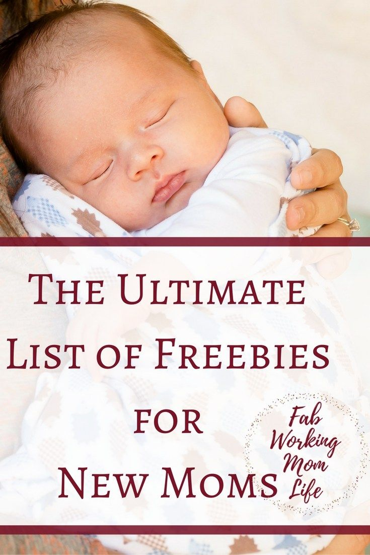 The Ultimate List of Freebies for New Moms. Check out this list of Free Stuff for Moms and Pregnant Moms-to-be and free products for Baby!
