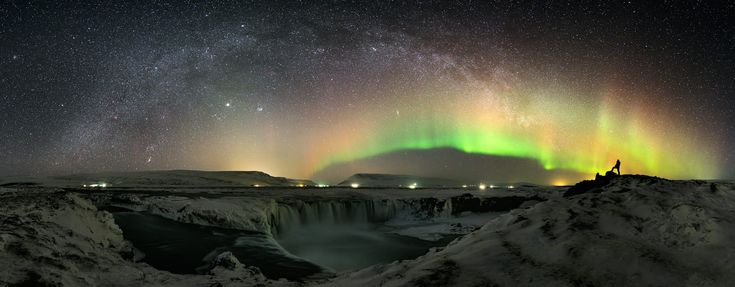 The Waterfall and the World at Night