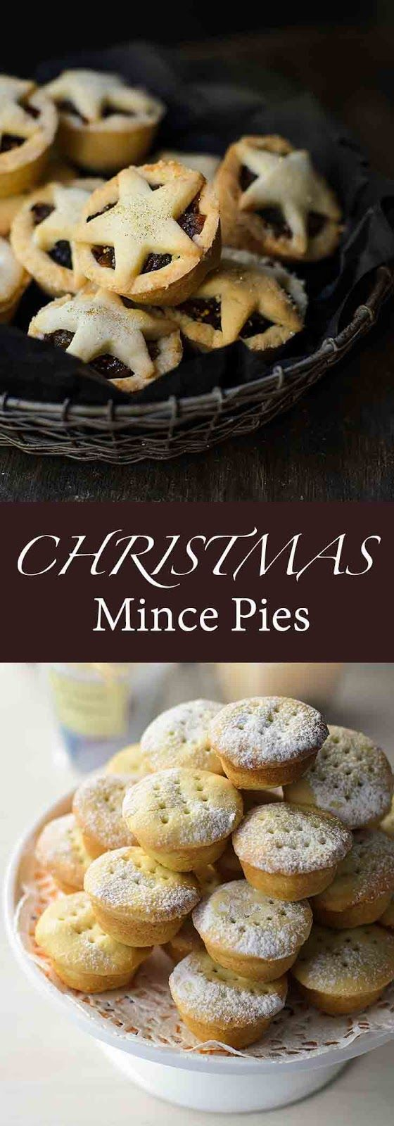 Christmas mince pies recipe. Made from sultanah, raisins, dried figs, apricots. Once you've made these Christmas mincemeat pies, you will never want to buy the store-bought pies ever again.
