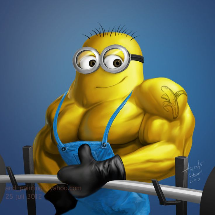 Minion Muscle Copy by and-painting on deviantART