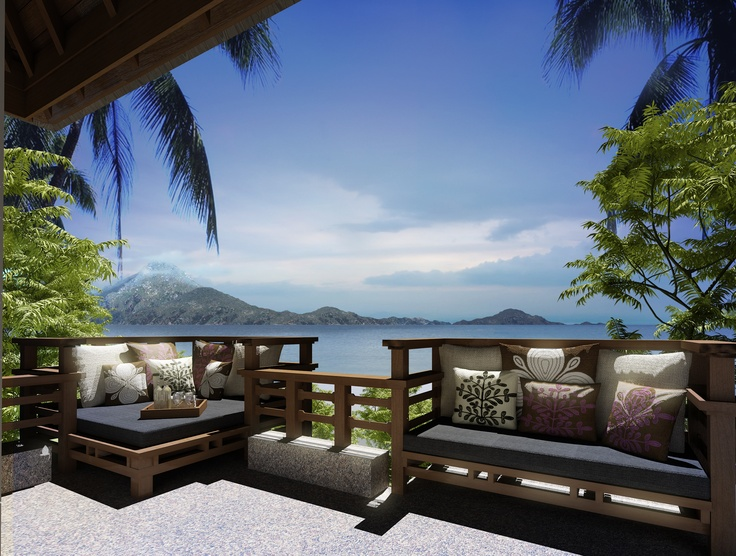 A villa at the stunning Gaya Island in Borneo