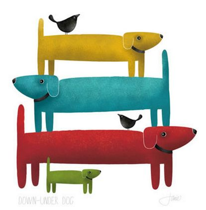I love me a dachshund...well, I've got 2...so here are my Downunder Dogs! Red Ink Design