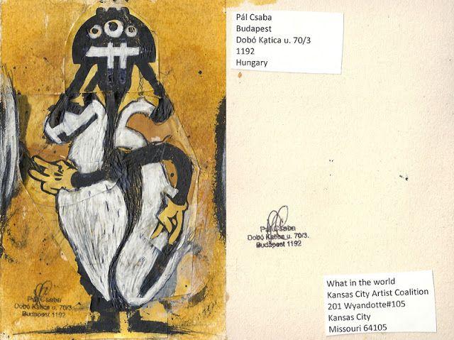 Mail art from Pál Csaba: Csaba Pál, mail art, U.S.A.