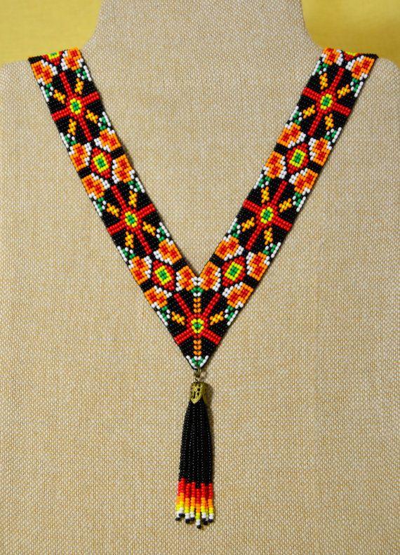 Beaded NecklaceTraditional Ukrainian Handmade от NakaHandMadeShop
