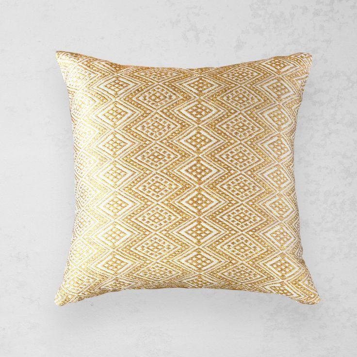 Handwoven Gold Pillow Qerz Bol