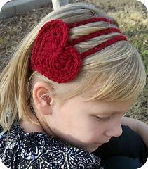 Crochet Heart Headband