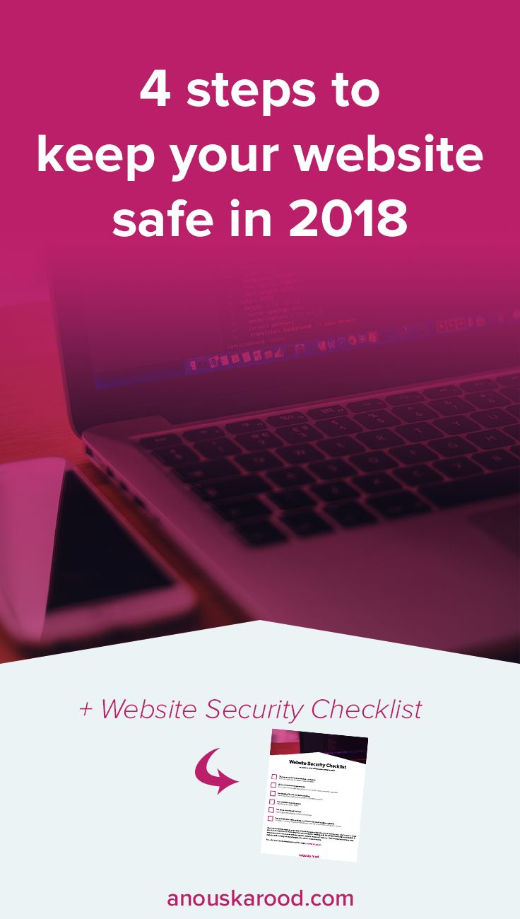 Don't waste your time worrying about your website getting hacked. Take these 4 steps to keep your website safe.