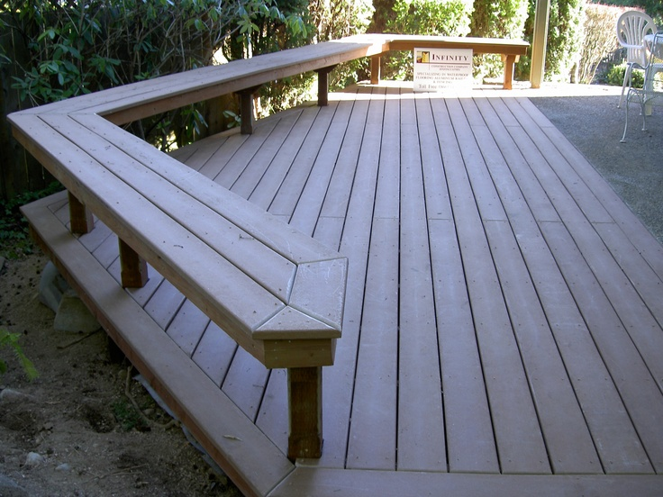 Trex Deck Amp Benches Up To Concrete Patio Decks By