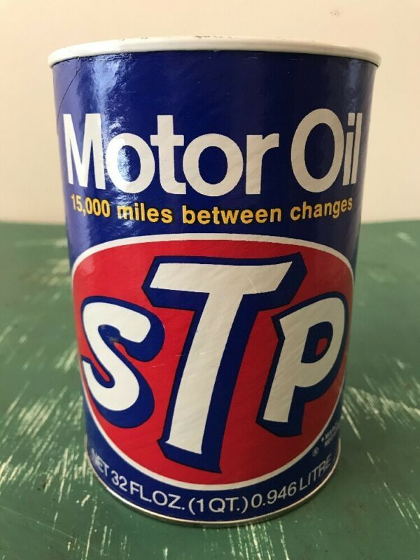 Vintage 1 Quart STP Motor Oil Can Full | art | Harley