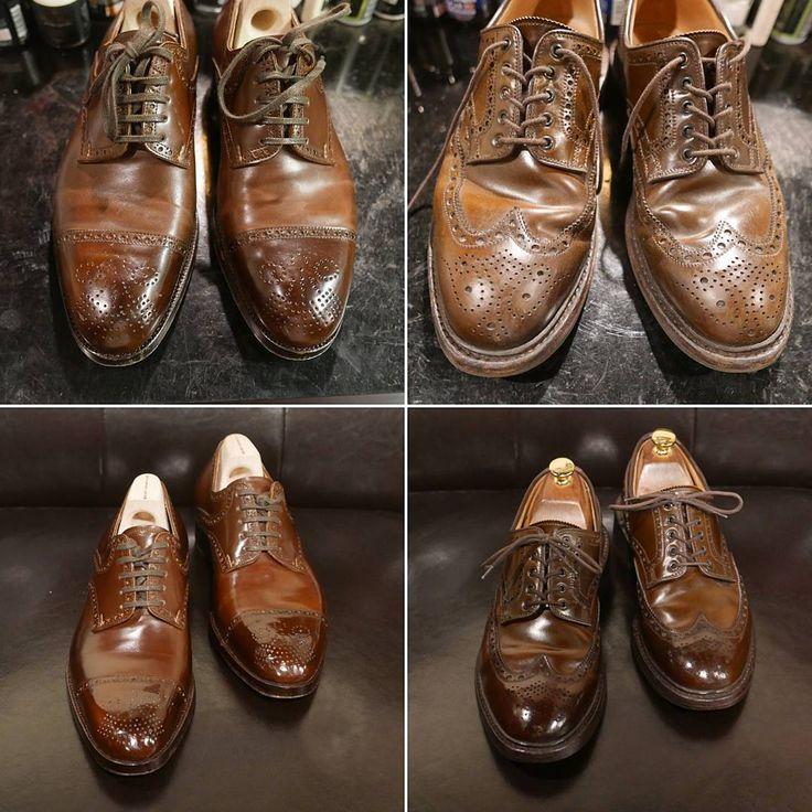 """364 mentions J'aime, 9 commentaires - Leather Healer (@leatherhealer) sur Instagram: """"Saint Crispins, Crockett & Jones Shell Cordovan Shoes . 歡迎任何Shoecare鞋履護理查詢~"""""""